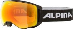 Alpina Skibrille Schneebrille Naator schwarz HM orange