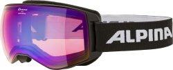 Alpina Skibrille Schneebrille Naator weiß HM blue sph