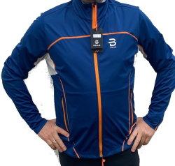 Herren Jacket Legend 4.0 von Daehlie  für Langlauf, Walking, Radfahren,Outdoor Blau-Orange