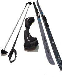 Langlaufski Set Cruising Ski Fischer  Apollo Cruiser Bdg Schuhe Stöcke